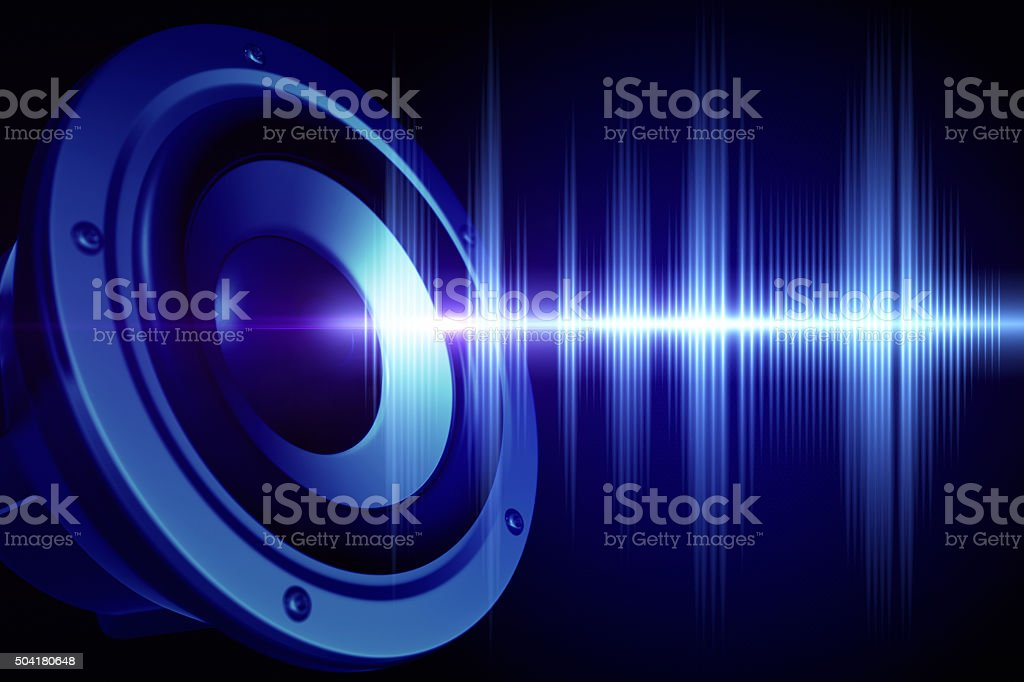Loud sound stock photo