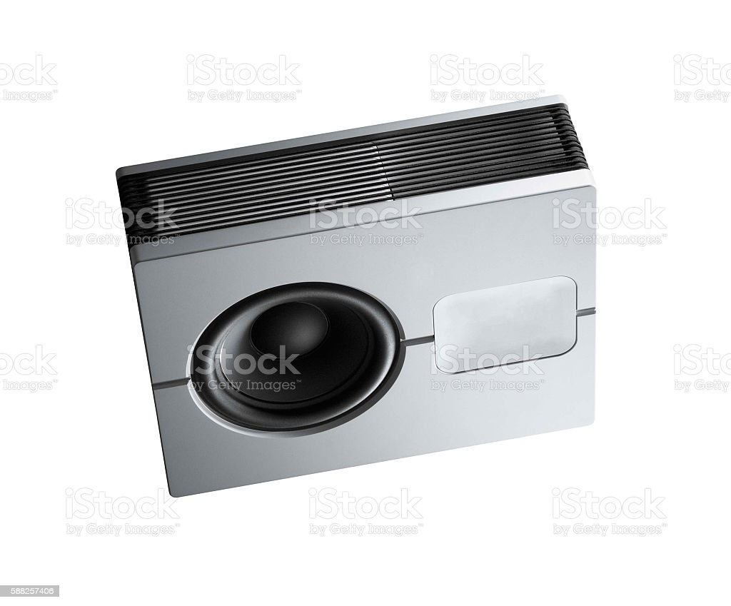 loud speaker. Isolated on white. stock photo