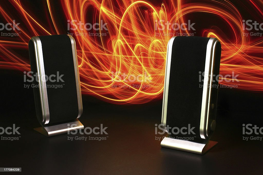 Loudspeaker with light painting royalty-free stock photo