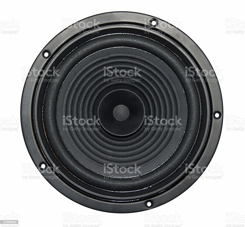 loudspeakers isolated royalty-free stock photo