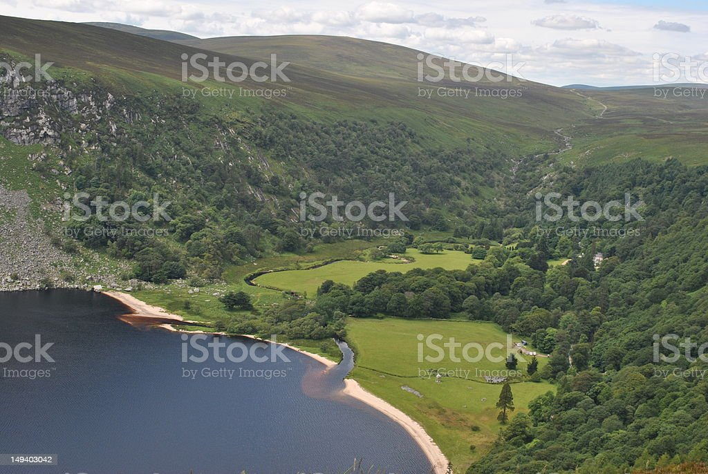 lough tay in wicklow ireland stock photo