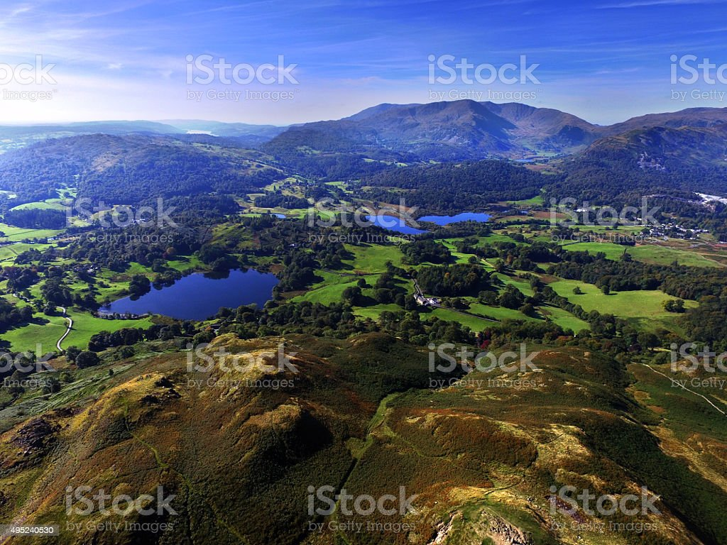 Loughrigg Tarn & Elterater stock photo