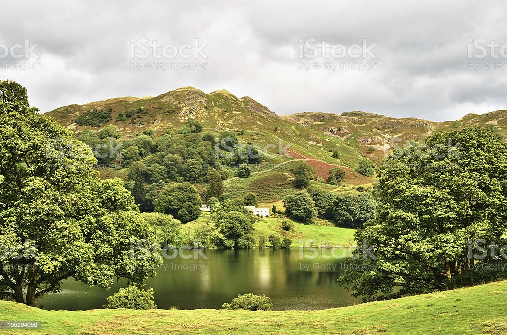 Loughrigg tarn, English Lake District stock photo