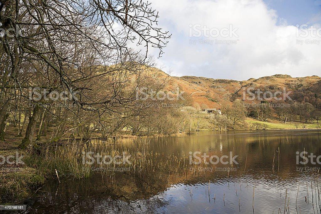 Loughrigg Tarn In The English Lake District stock photo