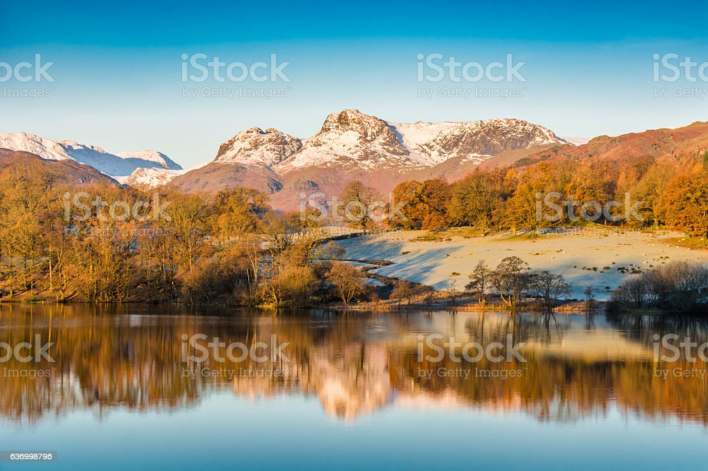 Loughrigg Tarn, Lake District, UK. stock photo