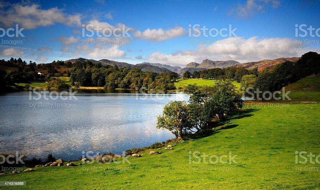 Loughrigg Tarn stock photo