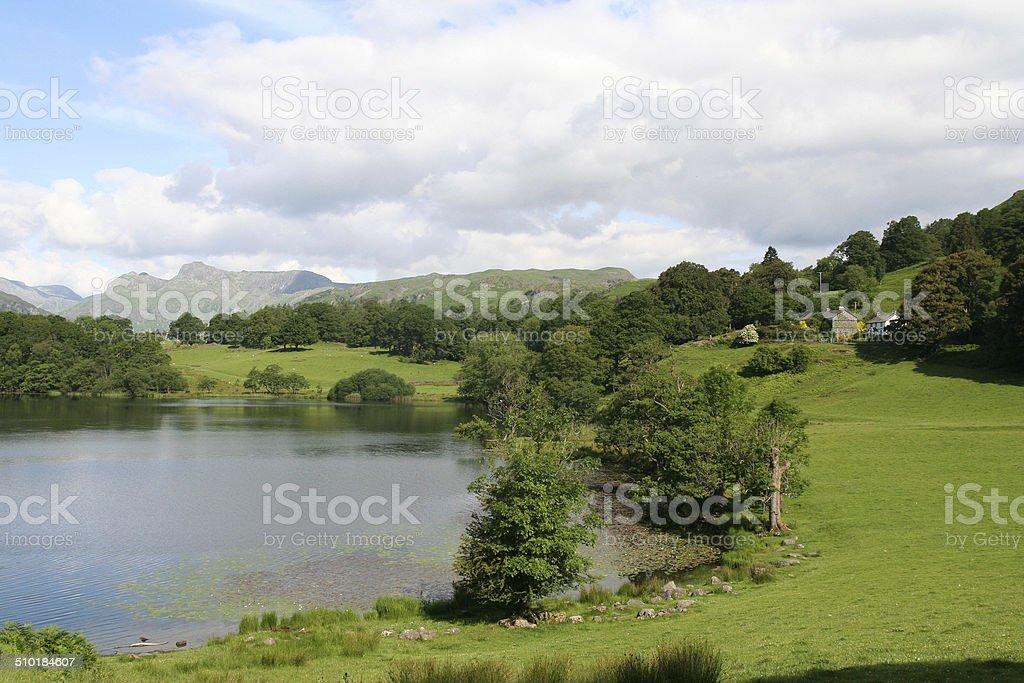 Loughrigg Tarn. stock photo