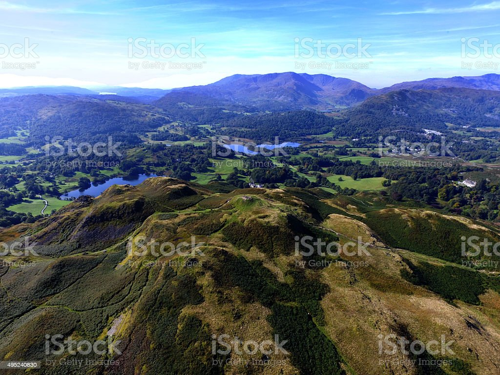 Loughrigg,Loughrgg Tarn,Elterwater stock photo