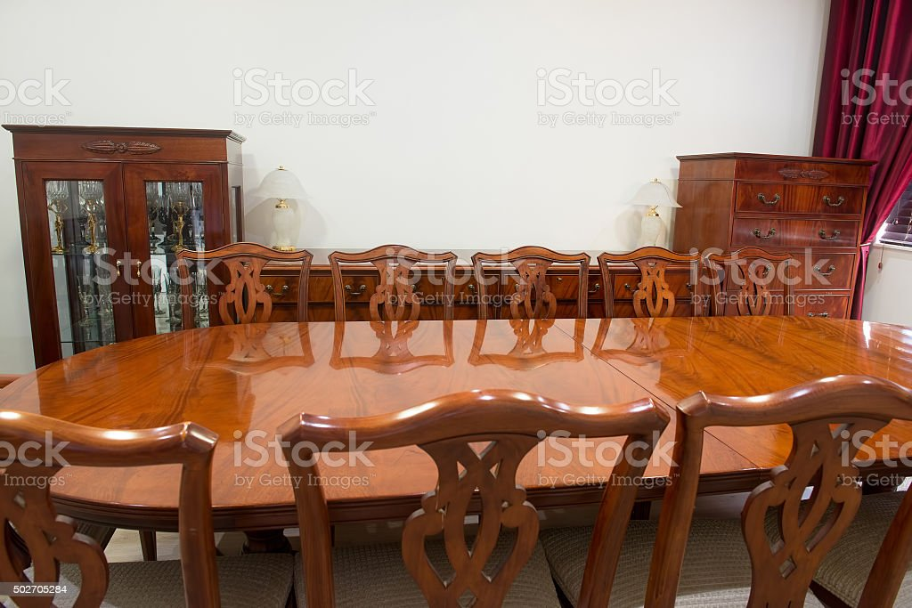 Louis Style Furniture Dining Room Interrior stock photo
