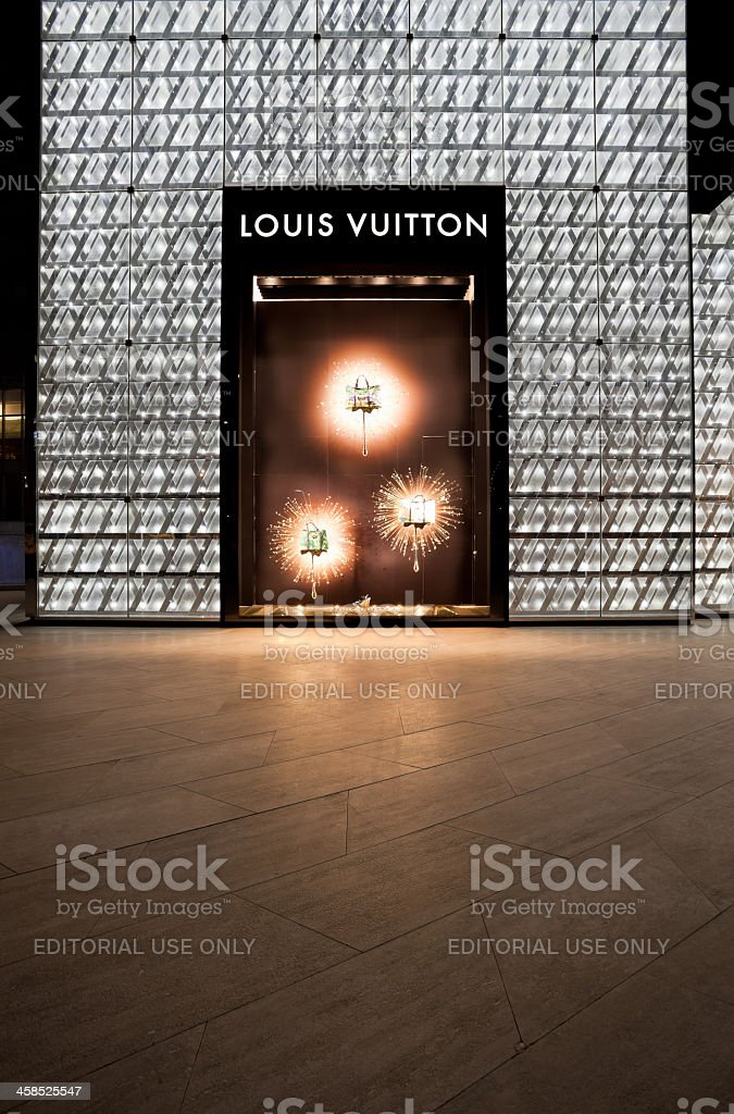 Louis Vuitton (LV) boutique in Pudong, Shanghai royalty-free stock photo