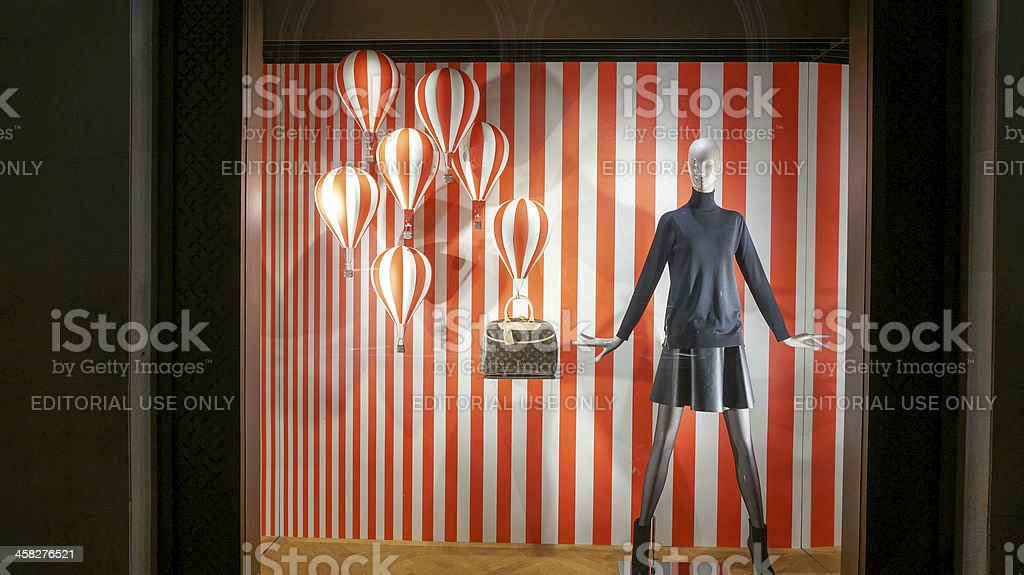 Louis Vuitton current promation showcase royalty-free stock photo
