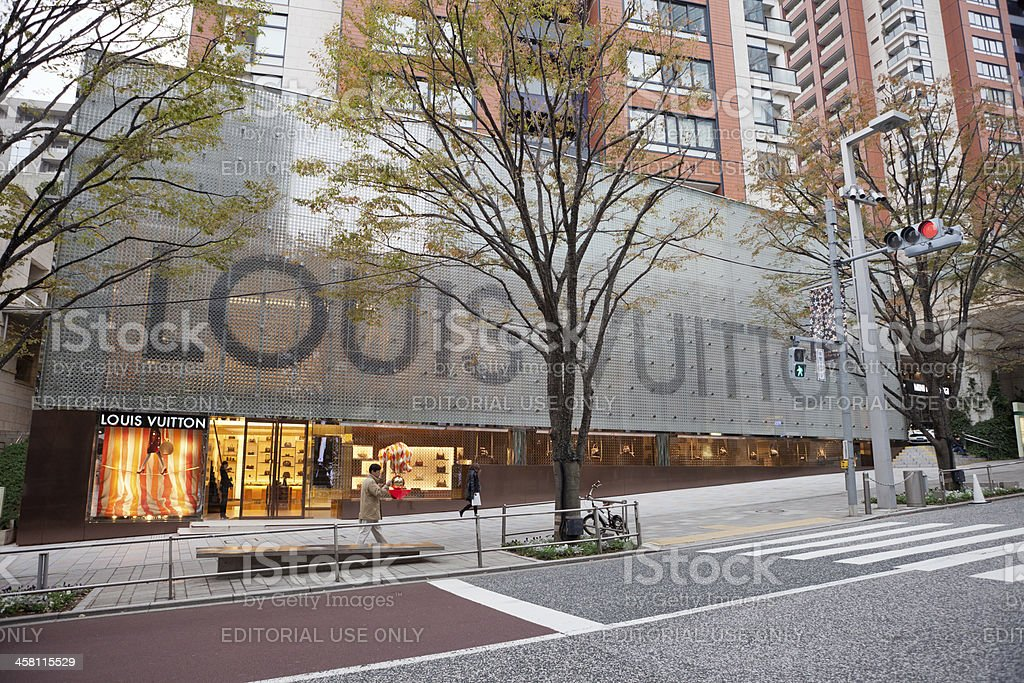 Louis Vuitton Flagship Store in Japan royalty-free stock photo