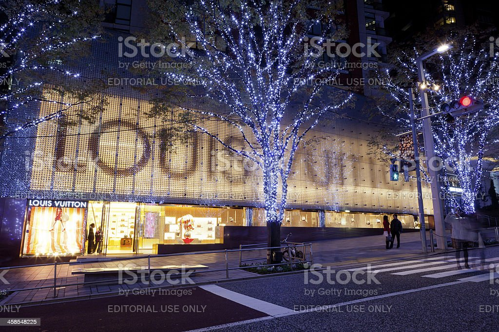 Louis Vuitton Flagship Store in Japan stock photo