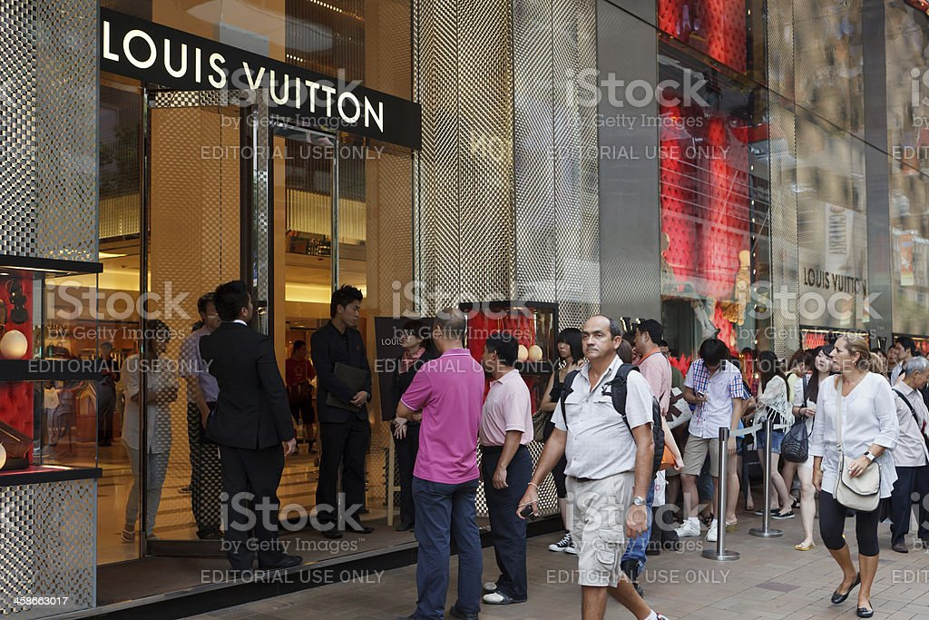 Louis Vuitton Flagship Store royalty-free stock photo