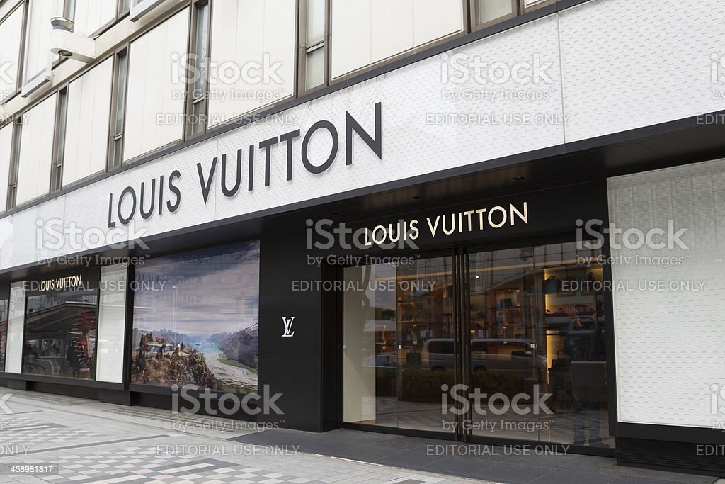 Louis Vuitton in Japan royalty-free stock photo