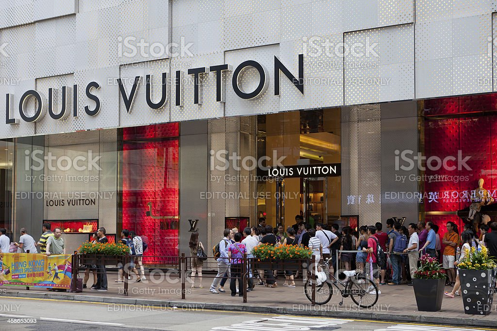 Louis Vuitton Shop in Hong Kong royalty-free stock photo