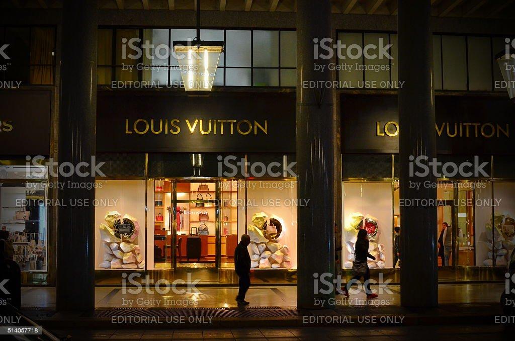 Louis Vuitton  shop in Italy stock photo