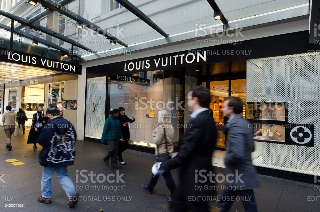 Louis Vuitton Shop stock photo