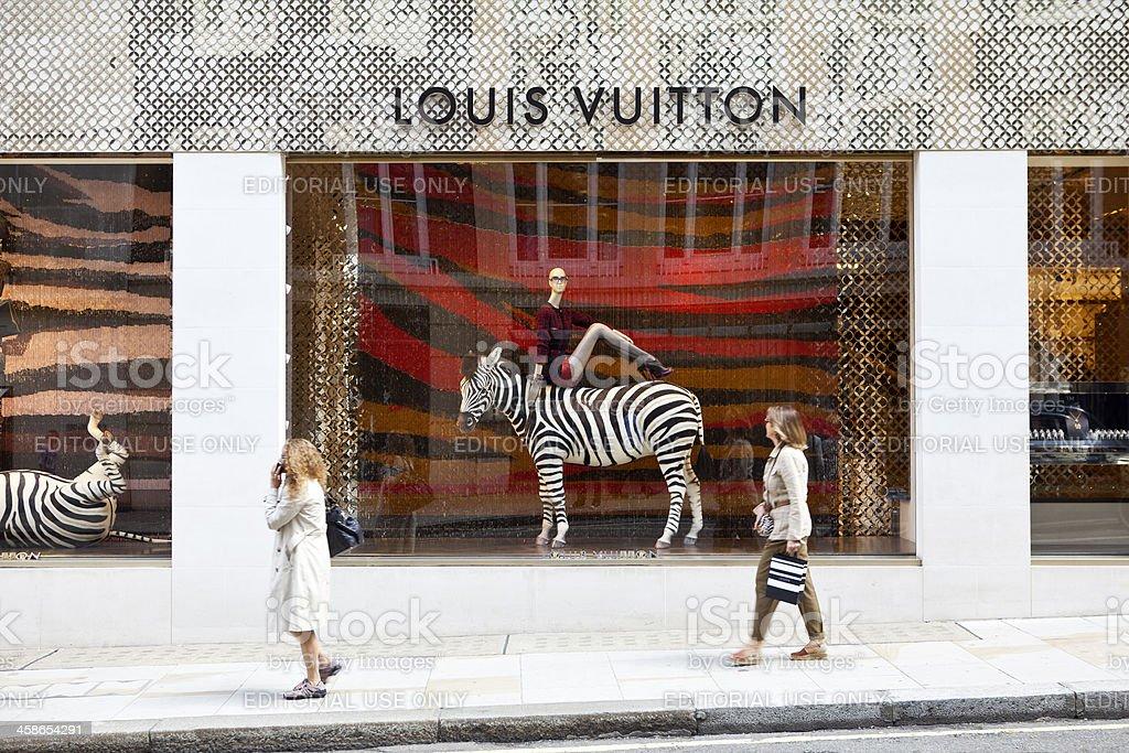 Louis Vuitton Shop Windows, London stock photo