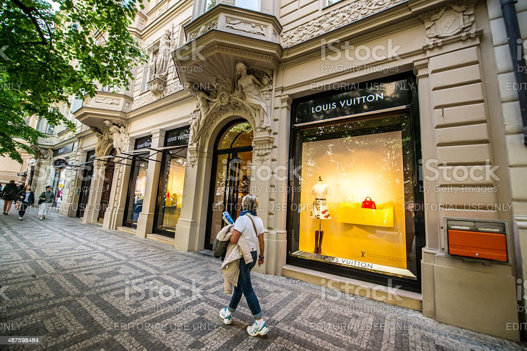 Louis Vuitton Store in Prague stock photo