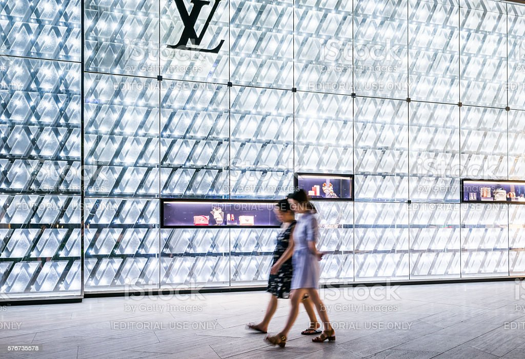 Louis Vuitton Store in Shanghai stock photo