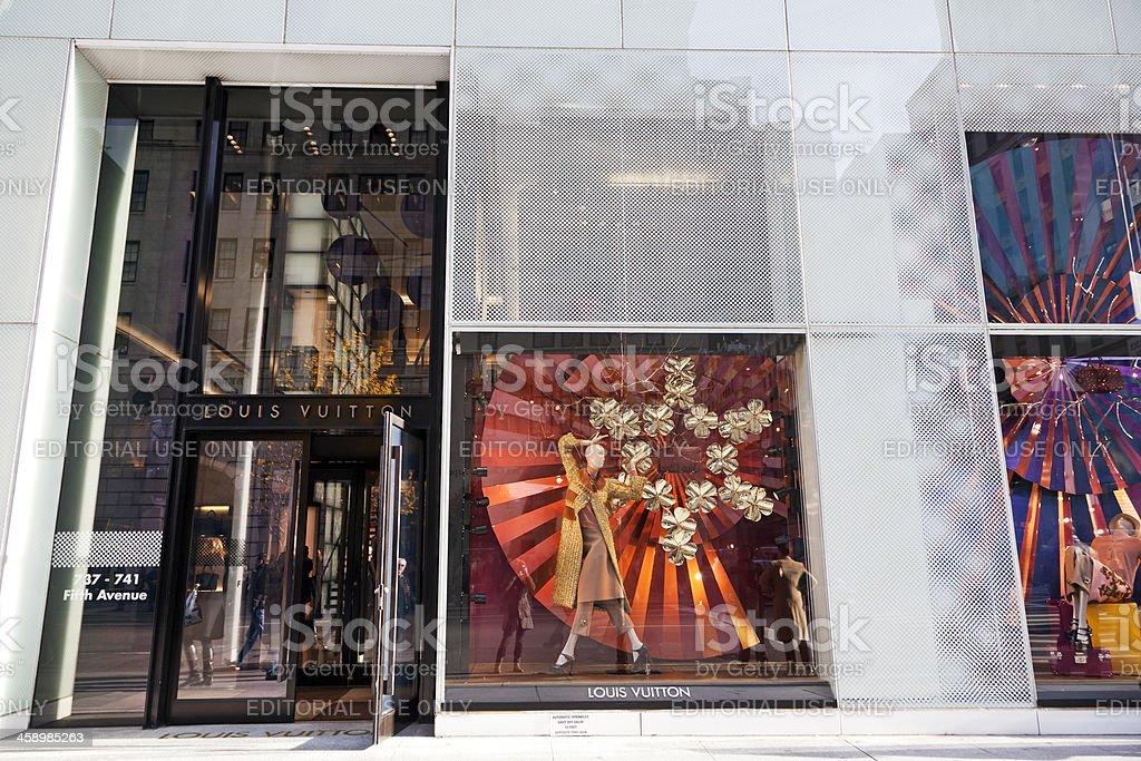 Louis Vuitton store NYC # 3 XXL royalty-free stock photo