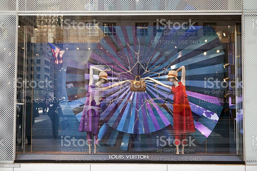 Louis Vuitton store NYC # 6 XXL royalty-free stock photo
