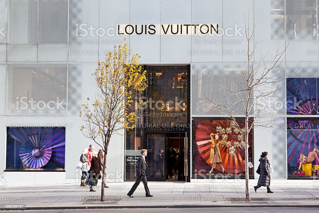 Louis Vuitton store NYC # 1 XXL stock photo