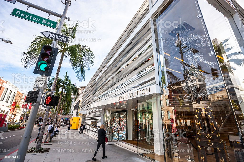 Louis Vuitton Store on Rodeo Drive, CA, USA stock photo