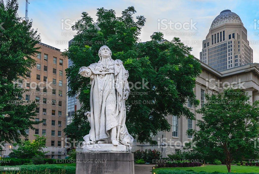 Louis XVI Statue - Louisville Kentucky stock photo