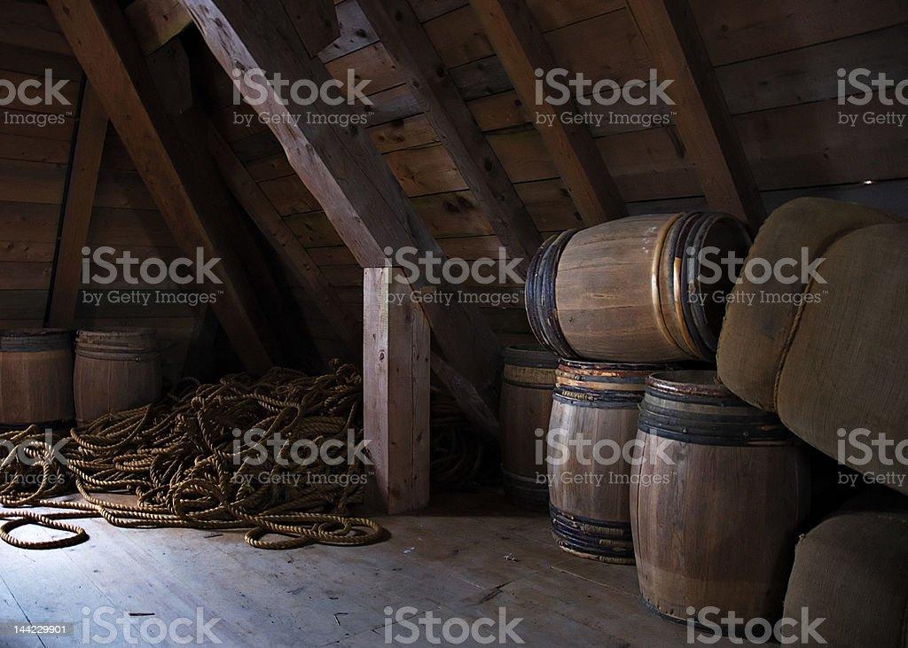 Louisbourg Barrels stock photo