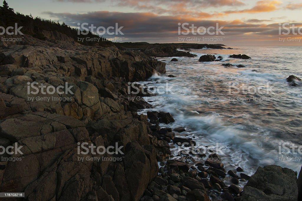 Louisbourg coastline stock photo