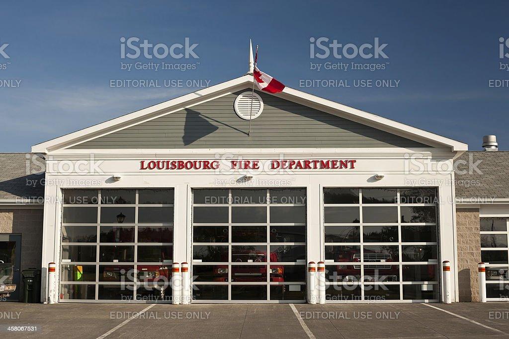 Louisbourg Fire Department Building stock photo