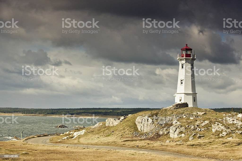 Louisbourg Lighthouse stock photo