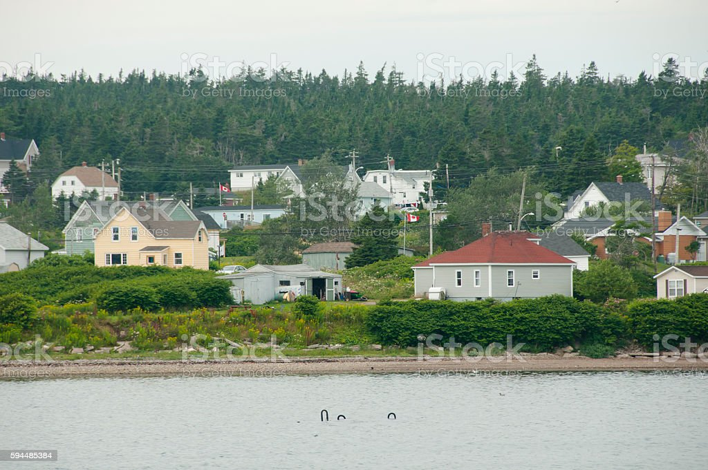 Louisbourg - Nova Scotia - Canada stock photo