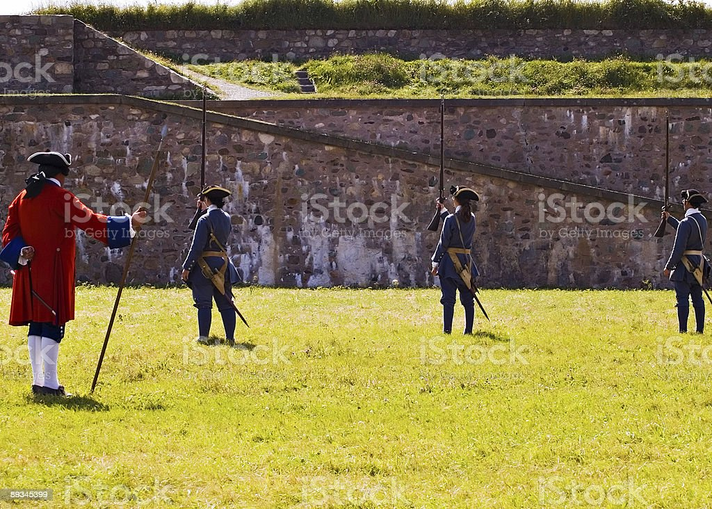 Louisbourg Soldiers royalty-free stock photo