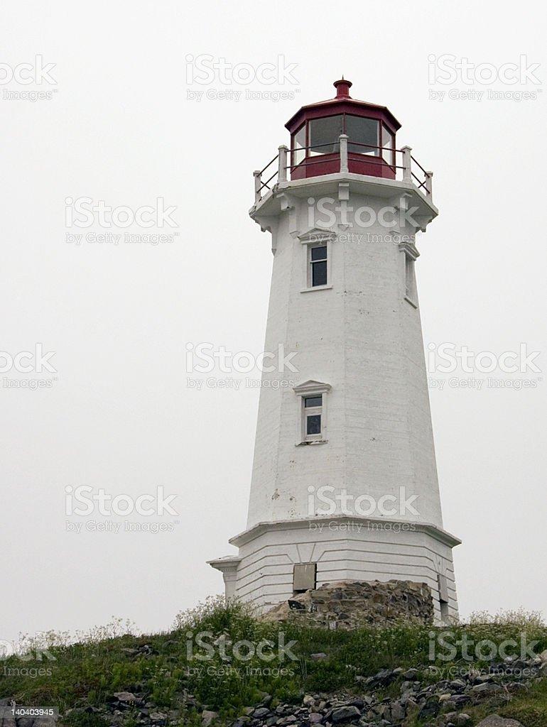 Louisbourg's lighthouse stock photo