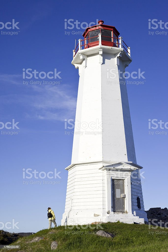 Louisburg Lighthouse, Nova Scotia stock photo