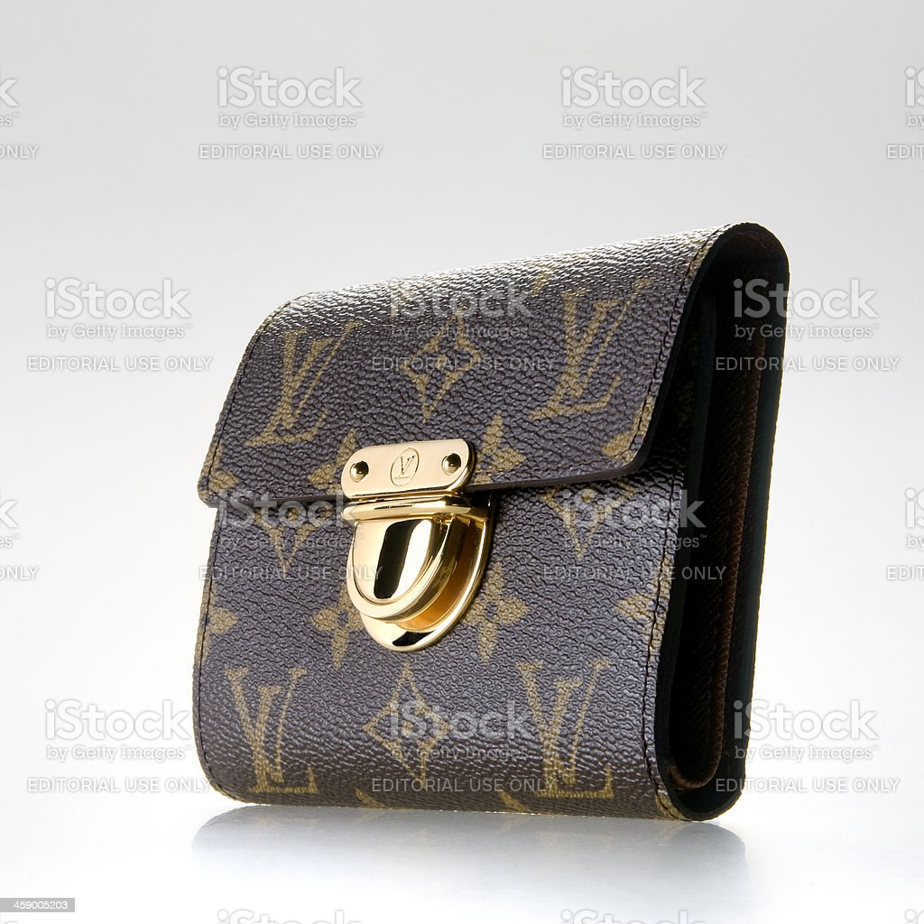 Louise Vuitton wallet for women stock photo