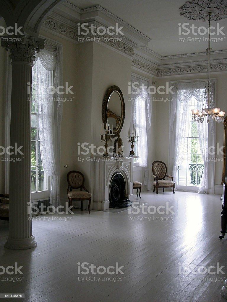 Louisiana - Plantation Ballroom stock photo