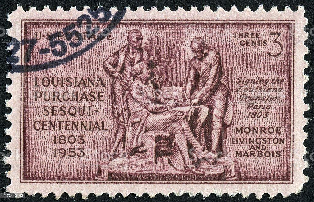 Louisiana Purchase Stamp royalty-free stock photo