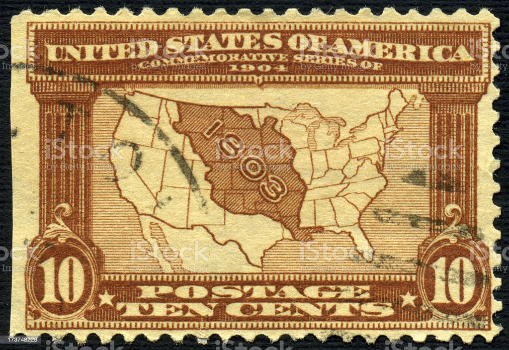 Louisiana Purchase Stamp royalty-free stock photo