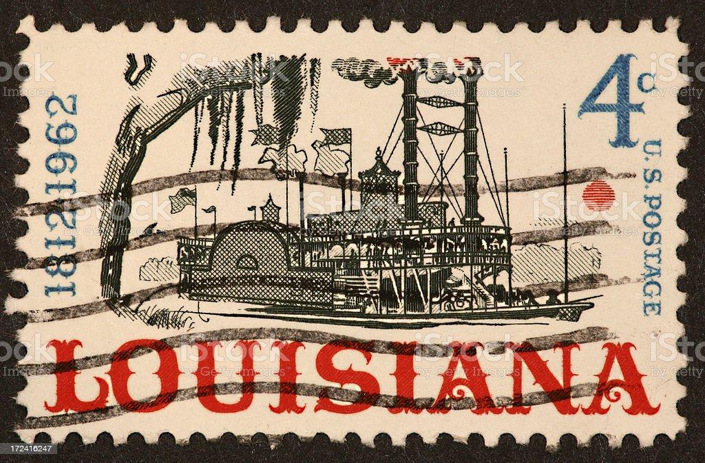 Louisiana riverboat stamp royalty-free stock photo