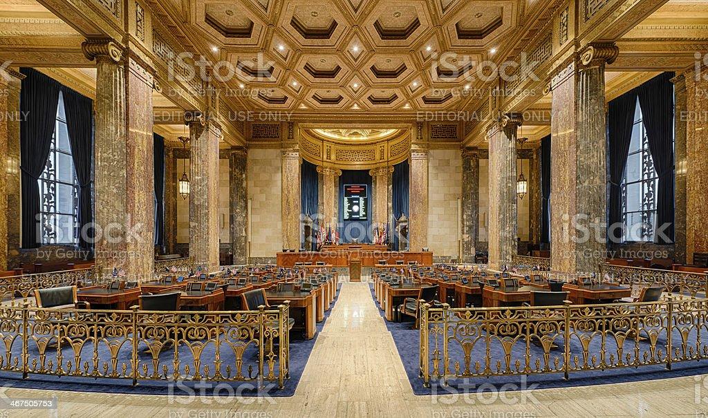 Louisiana Senate Chamber stock photo