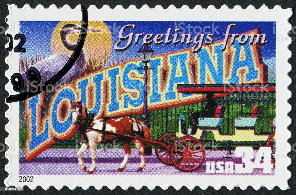 Louisiana Stamp stock photo