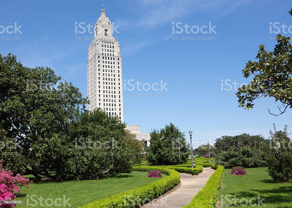 Louisiana State Capital in Baton Rouge stock photo