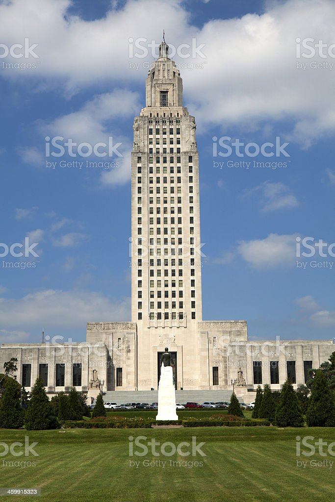Louisiana State Capitol Building  in Downtown Baton Rouge stock photo