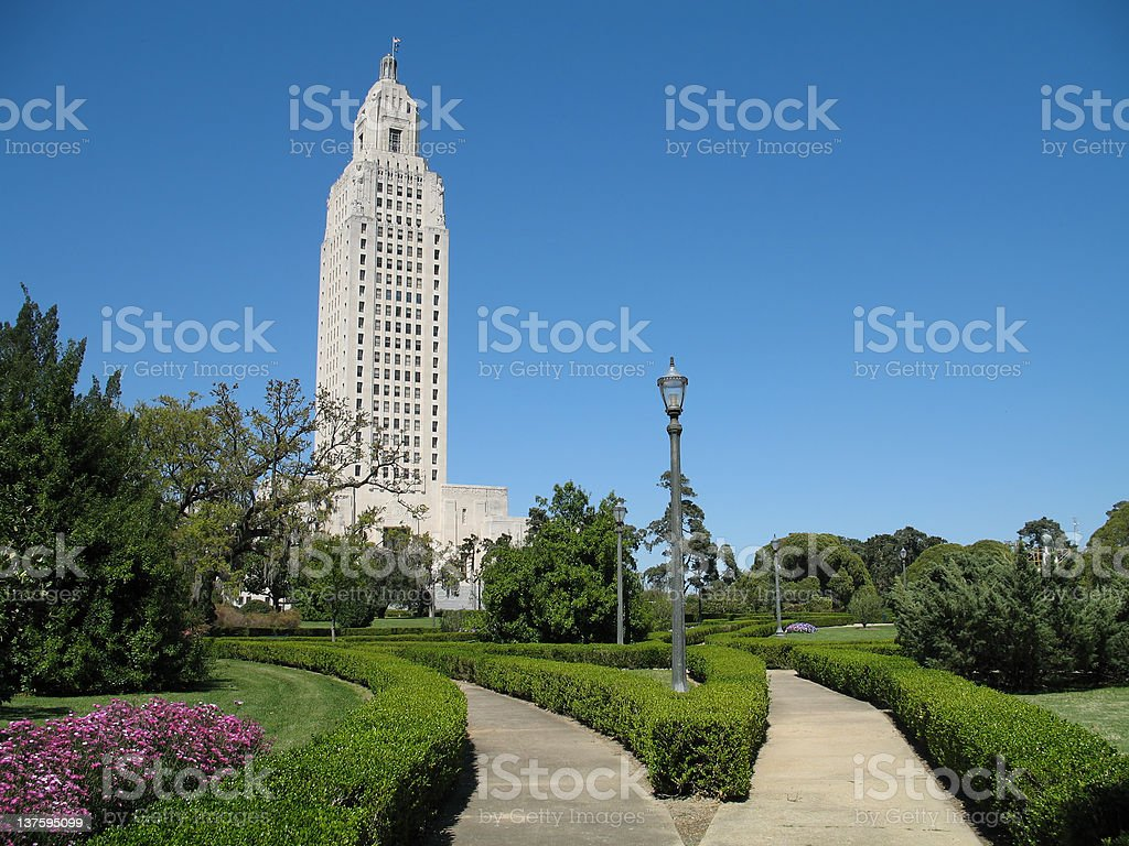 Louisiana State Capitol Building royalty-free stock photo