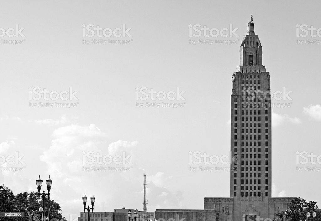 Louisiana State Capitol Building stock photo