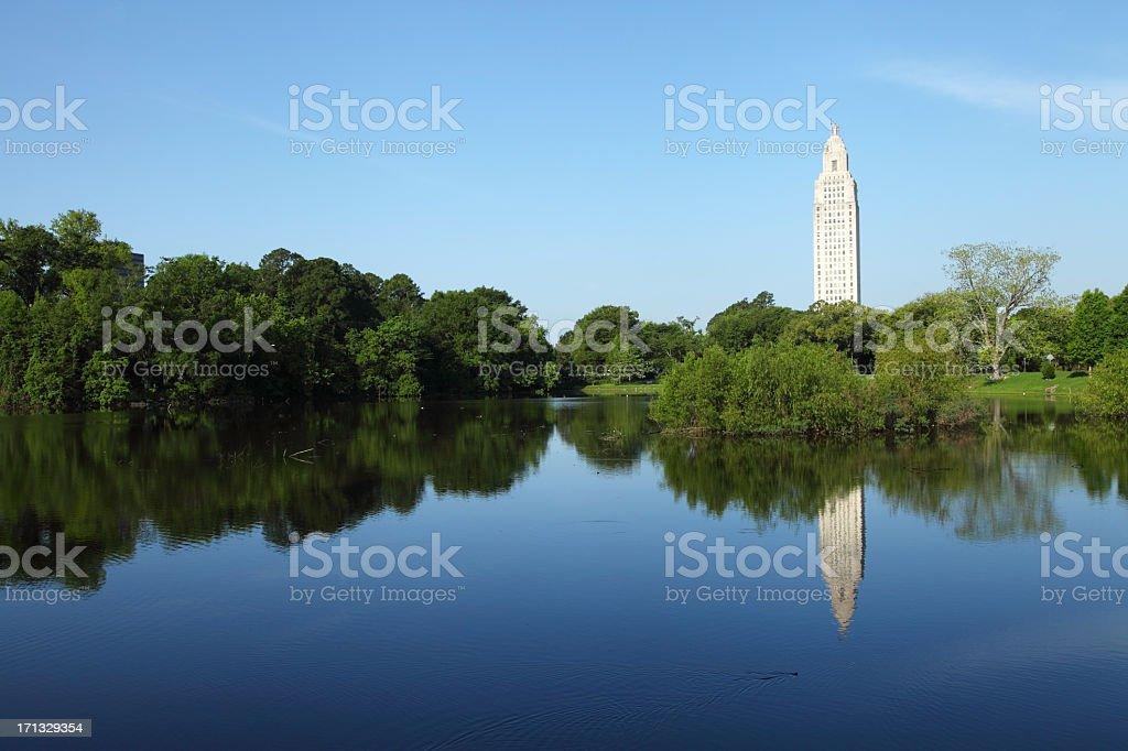 Louisiana State Capitol stock photo